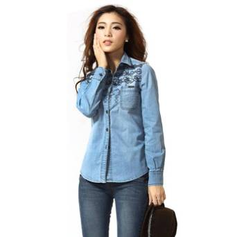 girl's denim shirt 2015