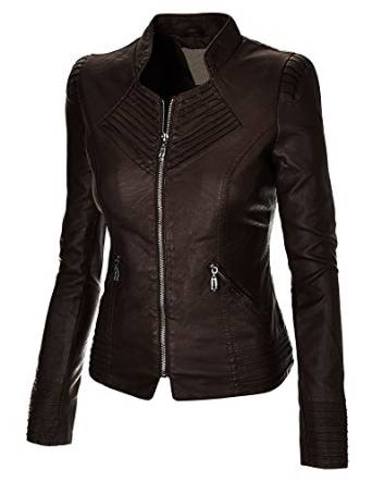 2015 leather jacket for ladies