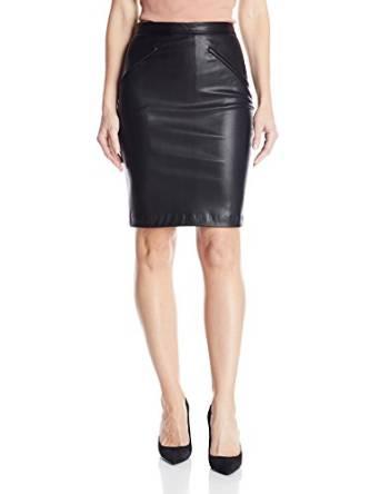 ladies leather skirt