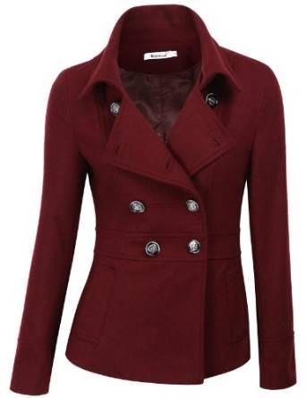Women's Double Breasted Pea Coat Jacket 2015-2016