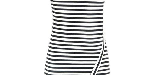 asymetrical dress with stripes 2015-2016