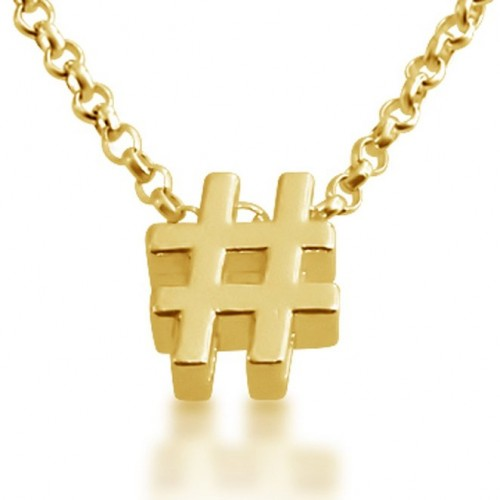 2015-2016 hashtag necklace
