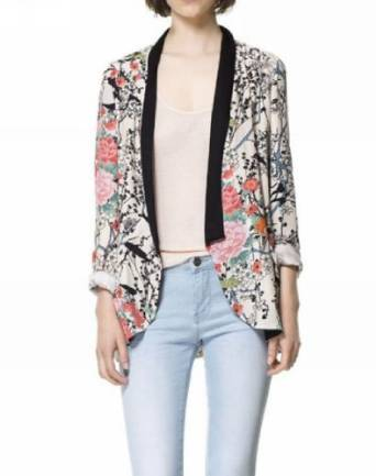 2015-2016 floral blazer
