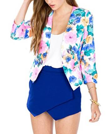floral blazer