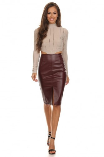 Women's Best Leather Skirt Latest Trends 2016 – Wearing Casual