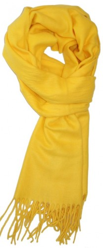 yellow cashmere scarf