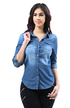 best womens denim shirt