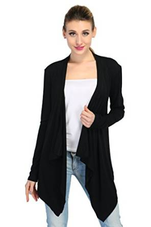 womens asymterical cardigan