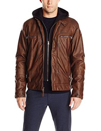 2017 brown leather jacket