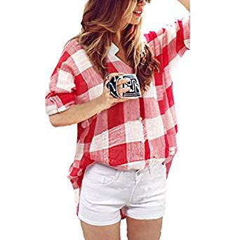 2017 ladies checkered shirt