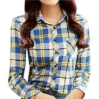 checkered shirts for women 2017