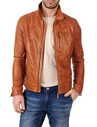good looking brown leather jacket 2017