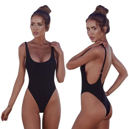 low back one piece swimsuits 2018-2019