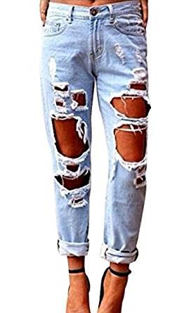 girls ripped jeans 2019