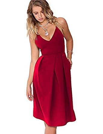 red cocktail dresses 2019