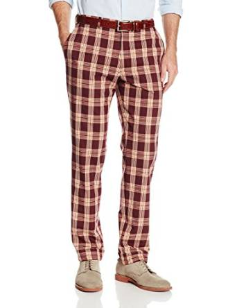 plaid pant for men 2015