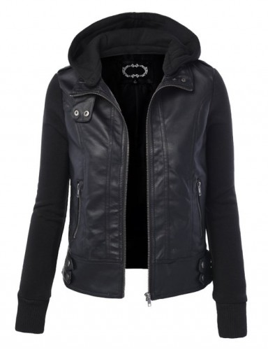 2015 leather jacket for women