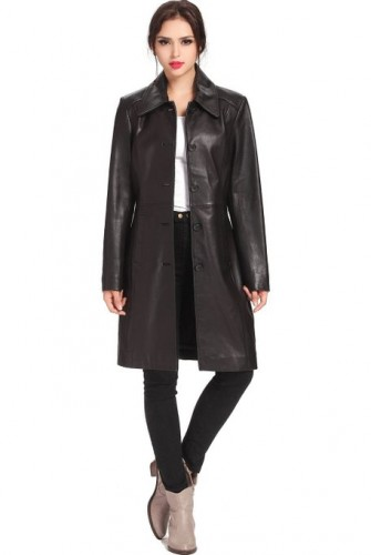2015 leather coat for women