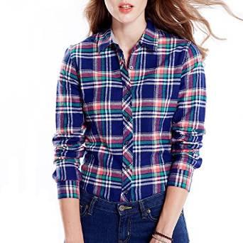 latest women checkered shirt 2015-2016