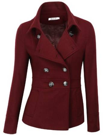 Women's Double Breasted Pea Coat Jacket 2015-2016