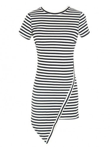 asymetrical dress with stripes 2015-2016