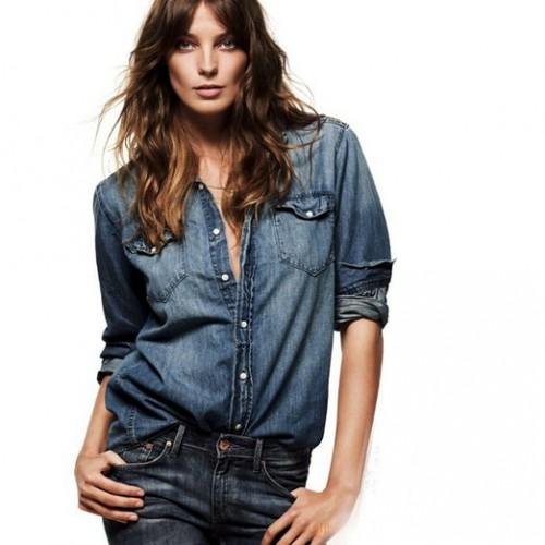 latest denim shirt for women 2015