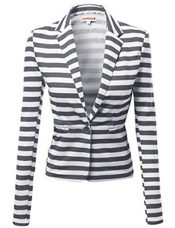 sporty blazer with stripes 2015-2016