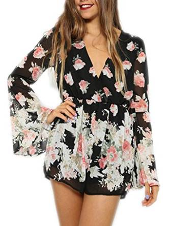 latest floral romper 2015-2016
