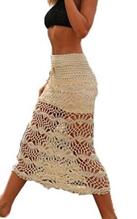 grey crochet skirt