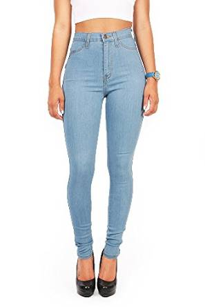 stunning high waist denim jeans