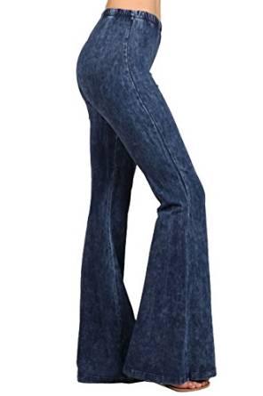 denim jean wide leg