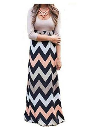 maxi dress with sleeves 2016