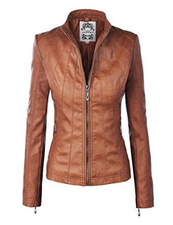 2016 brown leather jacket