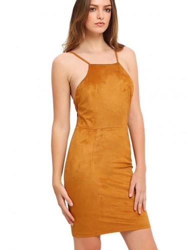 nice suede dress