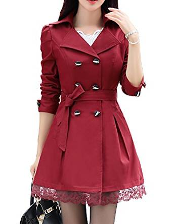 red trench coat 2016-2017