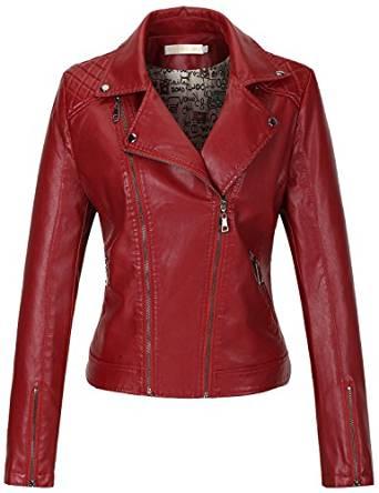 amazing red leather jacket 2017