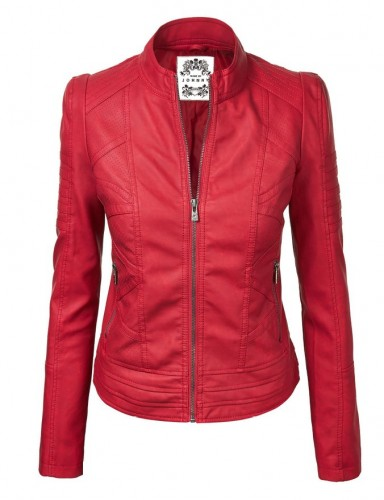 red leather jacket 2017