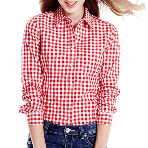 womens checkered shirt 2017