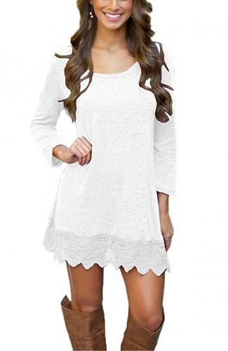 2017 casual white dress