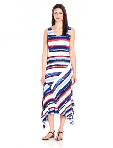 2020 asymmetrical dress with tribal prints