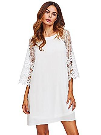 white summer dress 2020  wearing casual