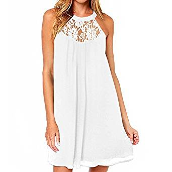 white summer dress 2020