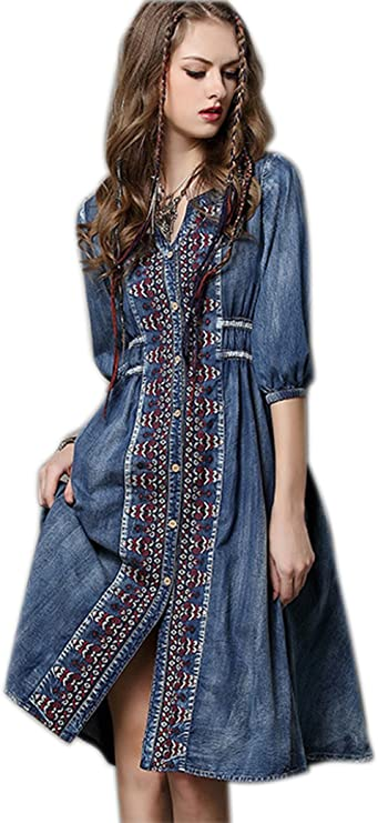 Are denim dresses in style 2021